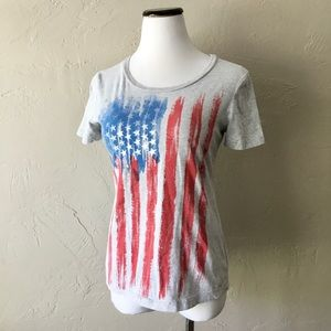 Tru tees American flag patriotic short sleeve tee